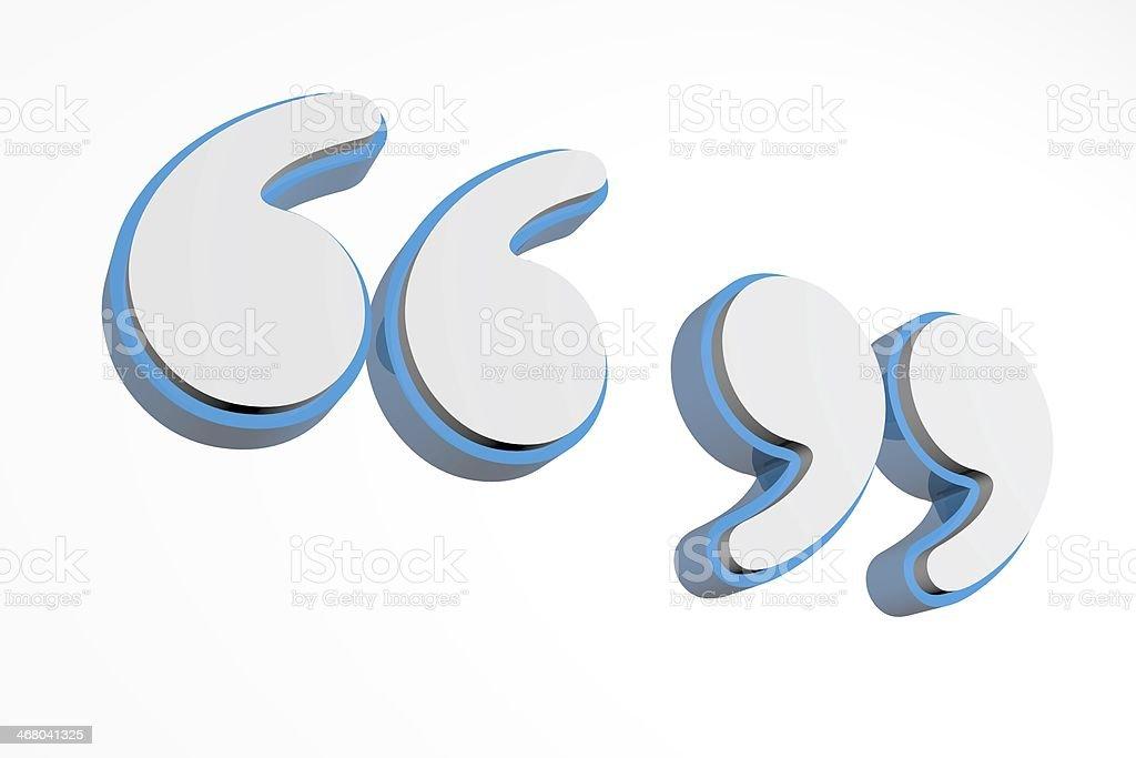 Large print bubble letter quotations. stock photo