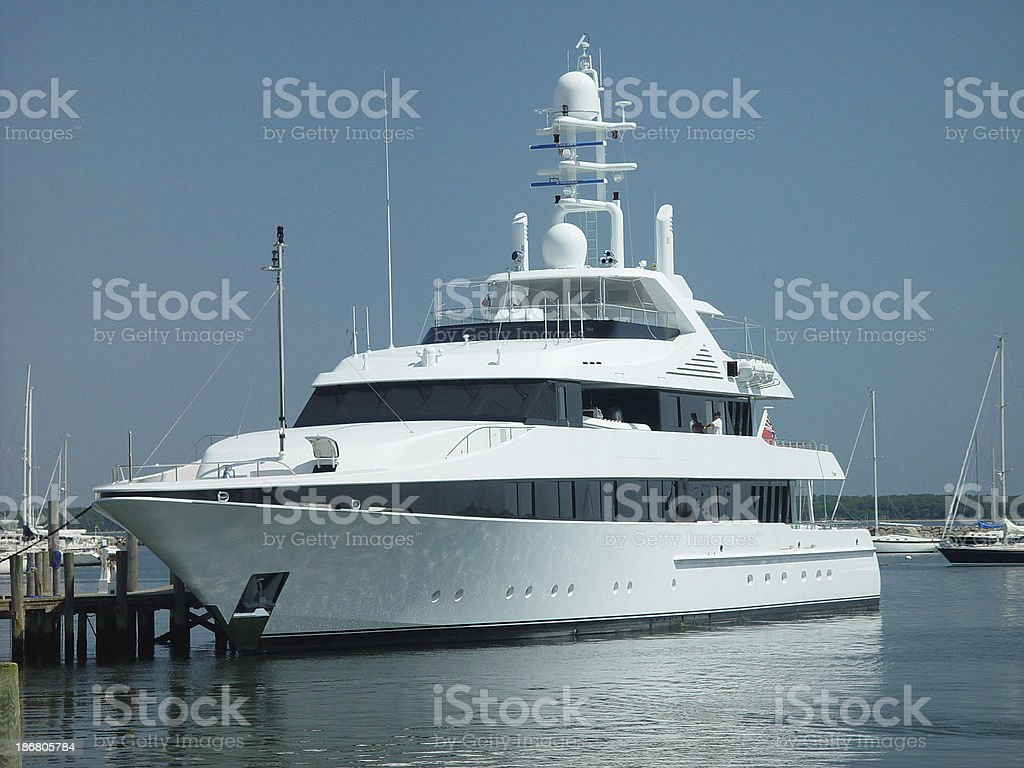 Large Private Yacht royalty-free stock photo
