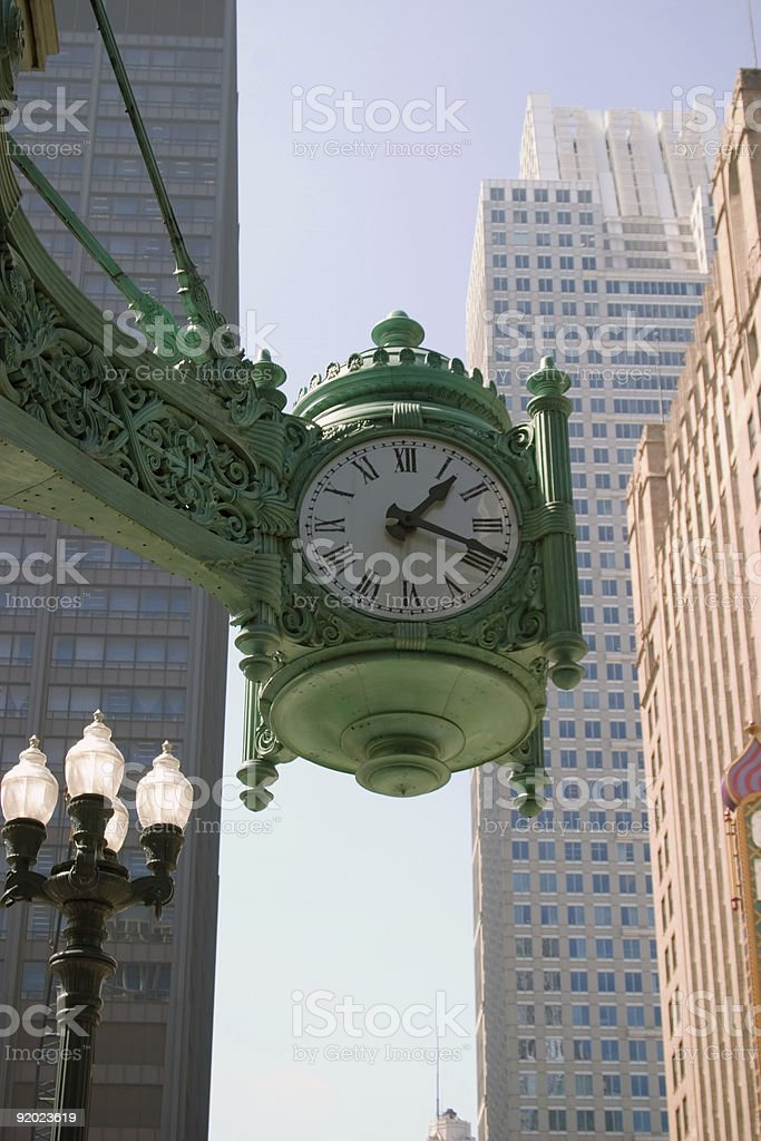 Large Public Clock stock photo