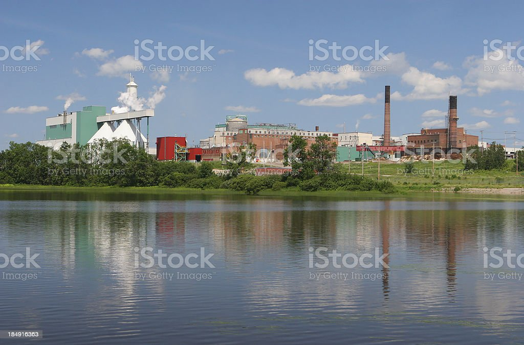 Large pulp and paper industry royalty-free stock photo