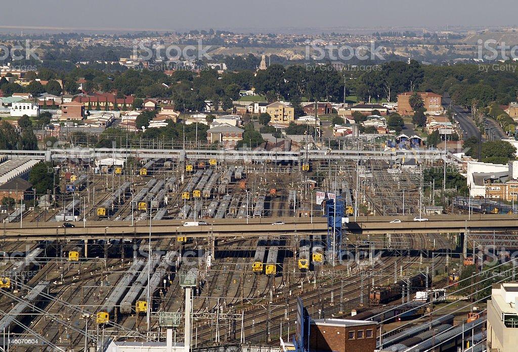Large Railway Yard stock photo