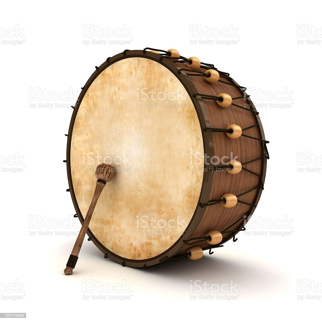 A large Ramadan drum on a white background stock photo
