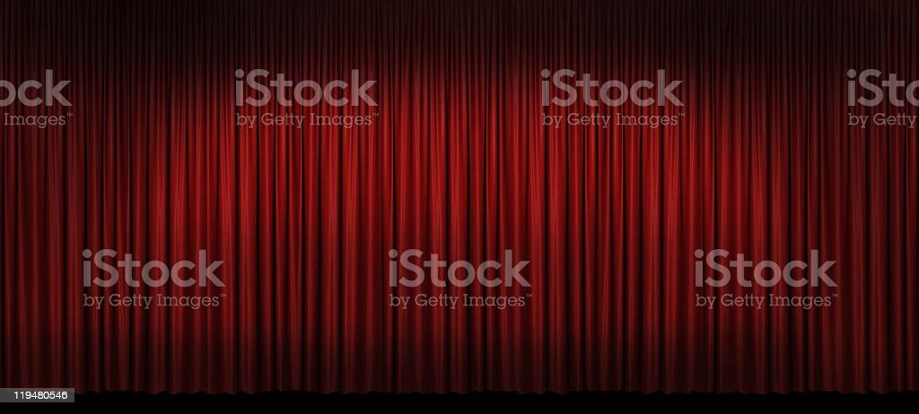 Large Red Stage Curtain royalty-free stock photo