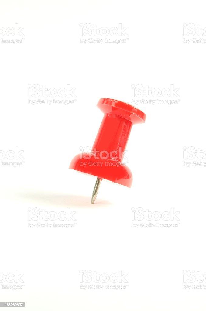 Large Red Stick Pin stock photo