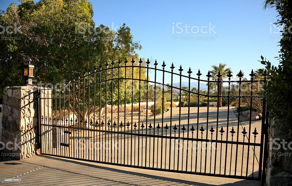 Large Residential Security Gate stock photo