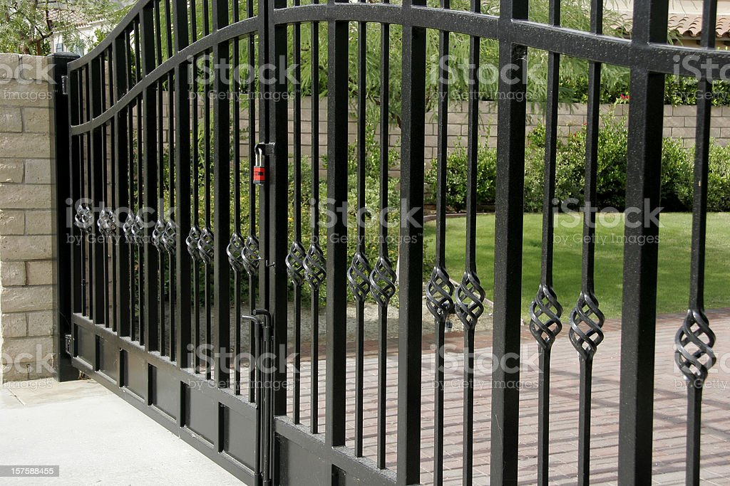 Large Residential Security Gates stock photo