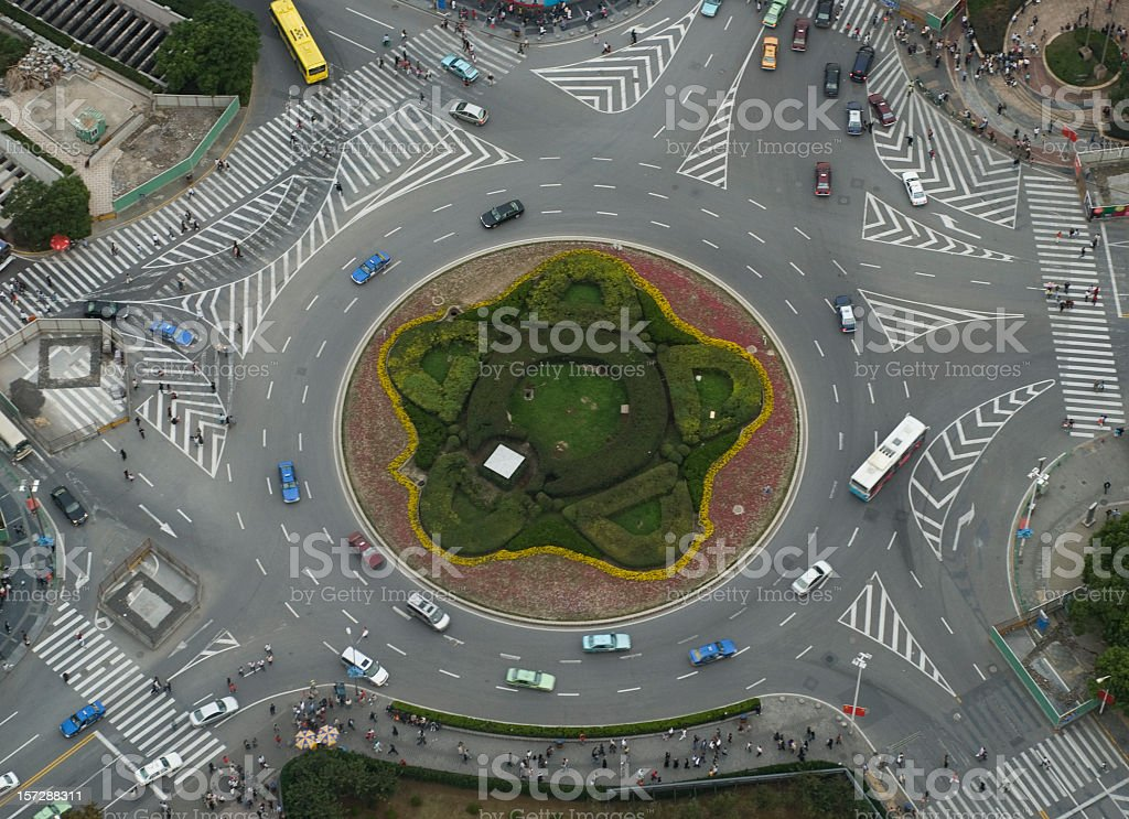 Large Roundabout From Above stock photo