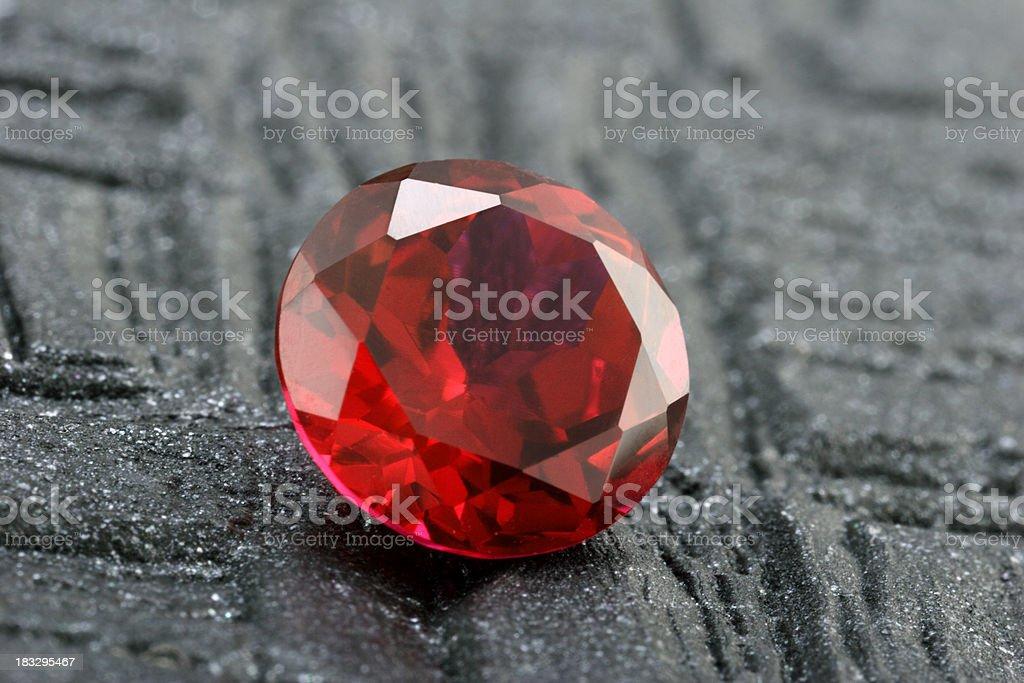 Large Ruby Stone stock photo