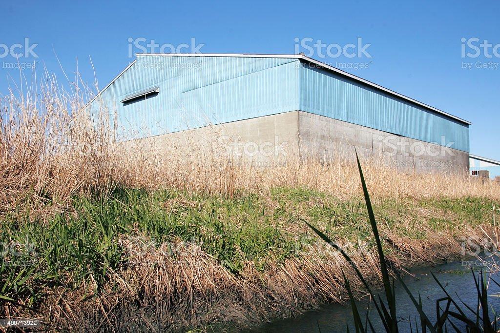Large Rural multipurpose Farm Building stock photo
