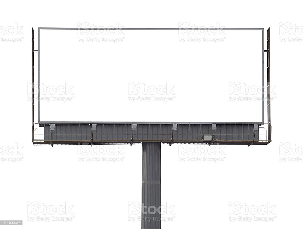 Large rusty billboard royalty-free stock photo