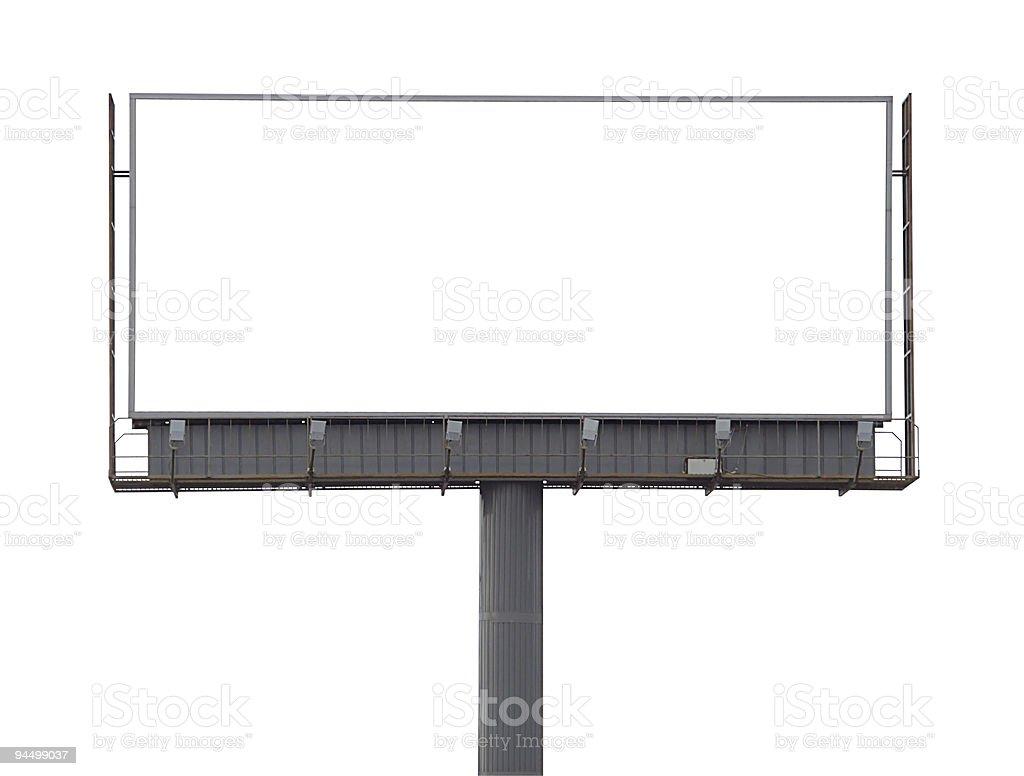 Large rusty billboard stock photo