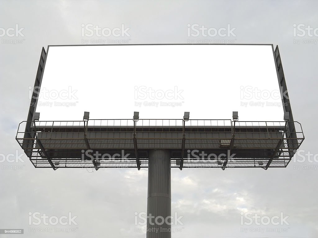 Large rusty billboard royalty-free stock photo