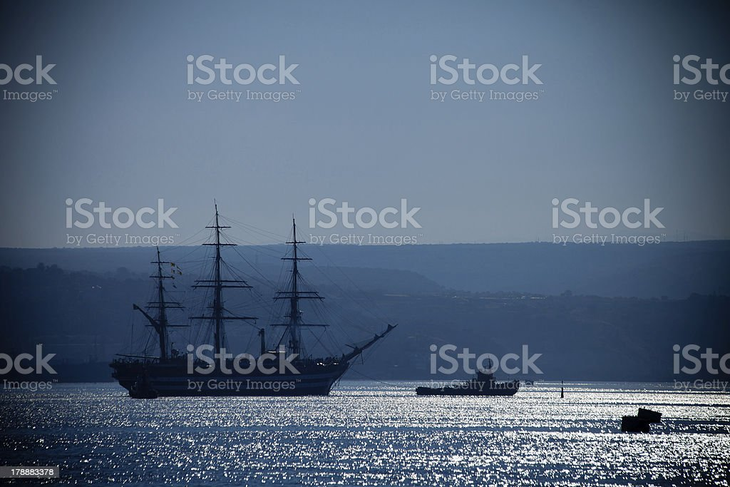 Large sailing ship royalty-free stock photo