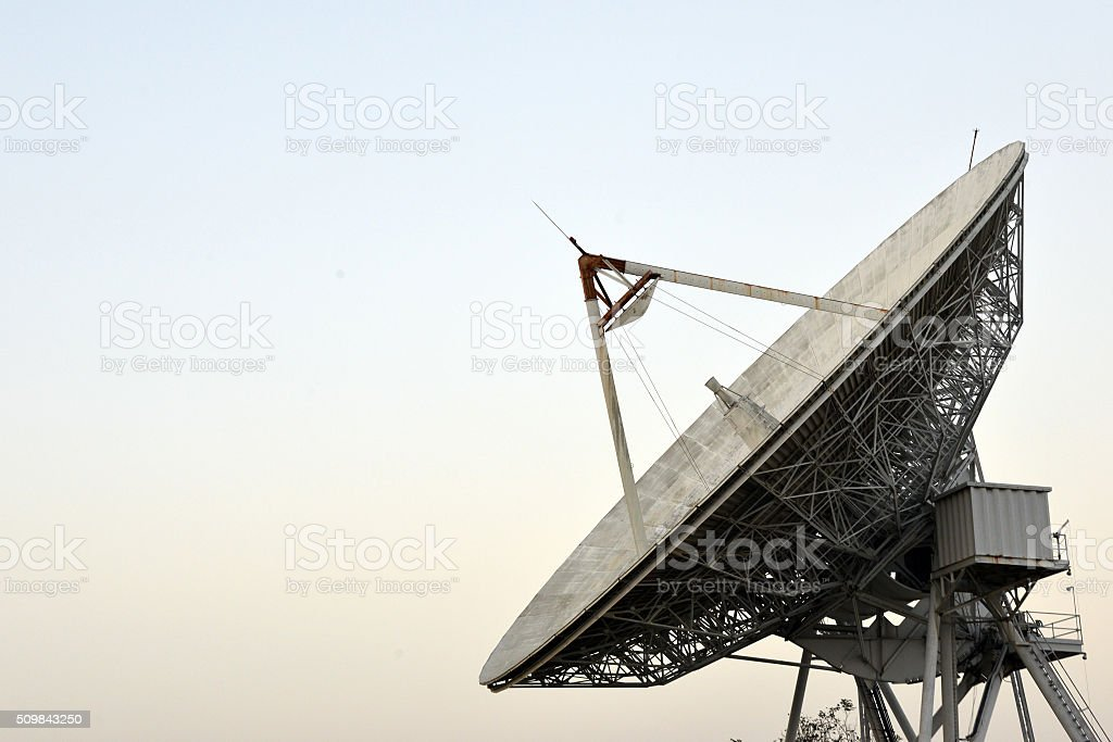 Large Satellite Dish in Thailand stock photo