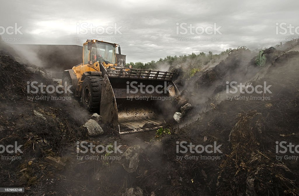 large scale composting stock photo
