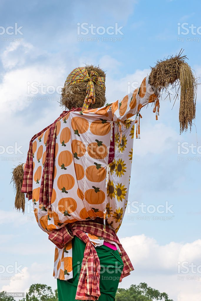Large scarecrow in the traditional Thai style stock photo