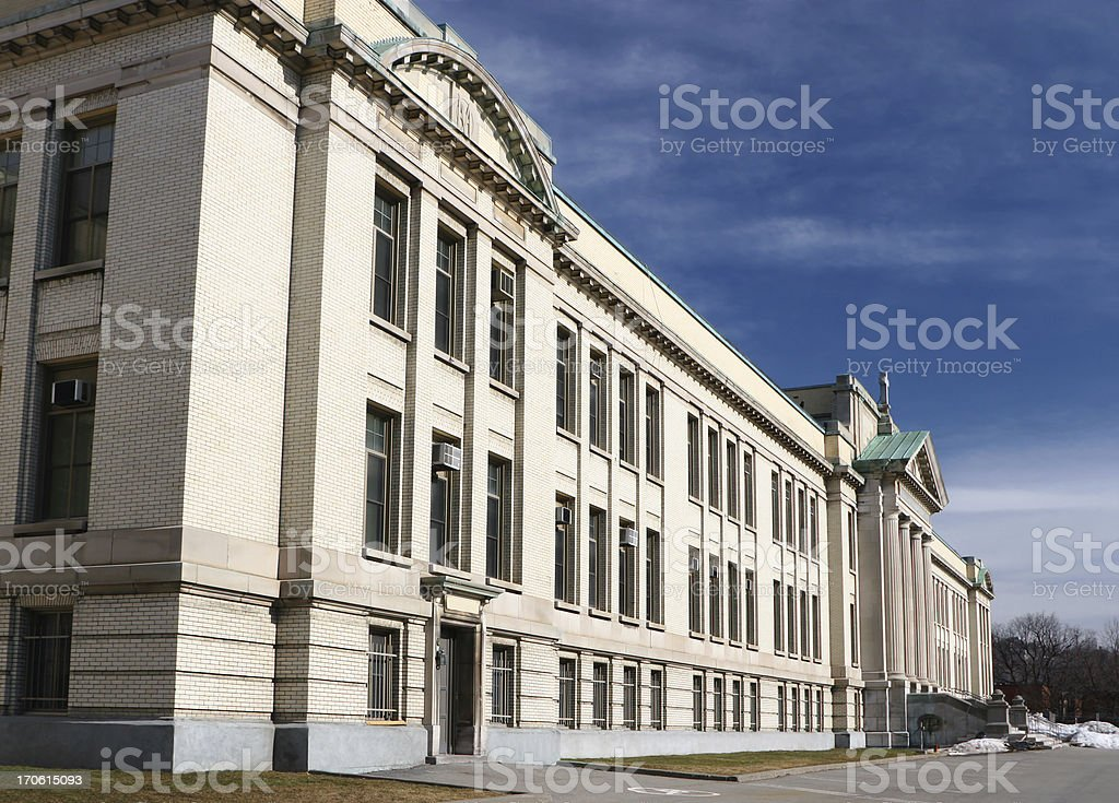 Large School building in Montreal royalty-free stock photo