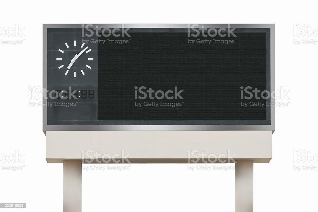 Large scoreboard arena isolated on white background. use clippin stock photo