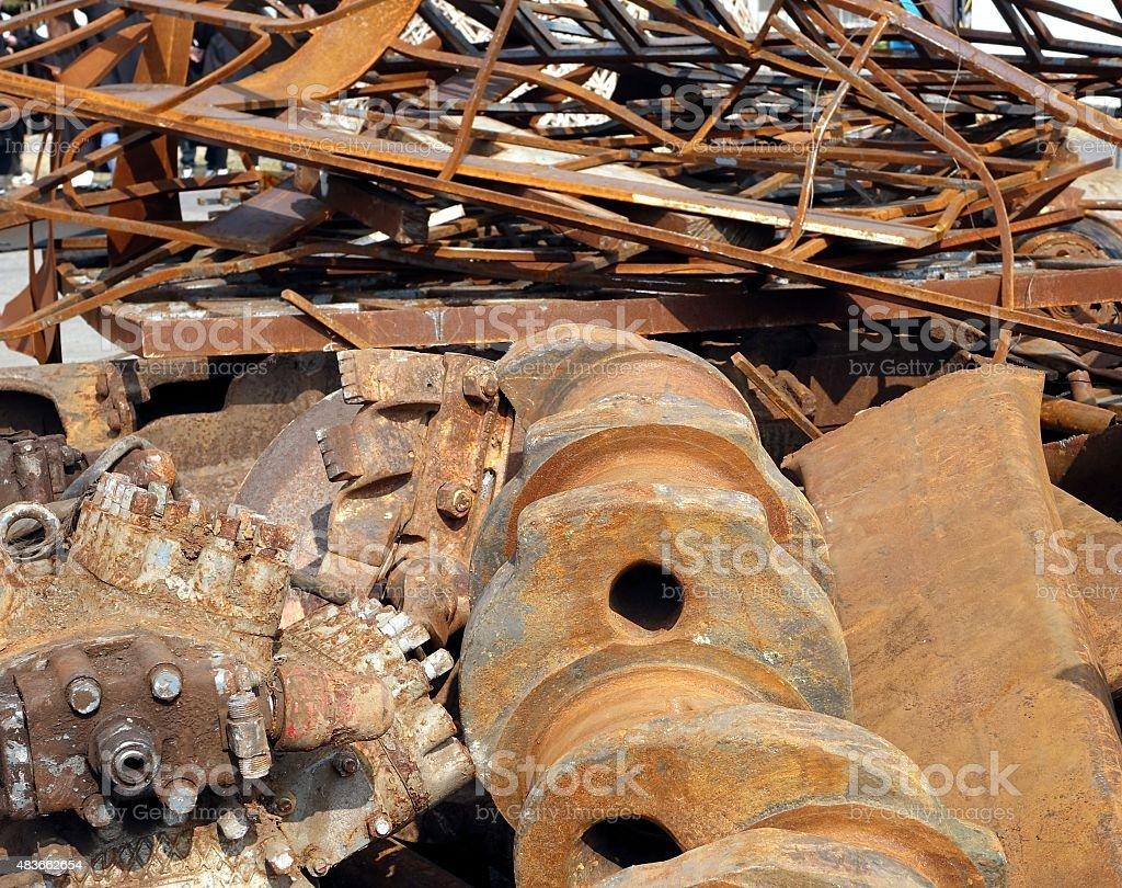 Large Scrap Iron Chunks stock photo