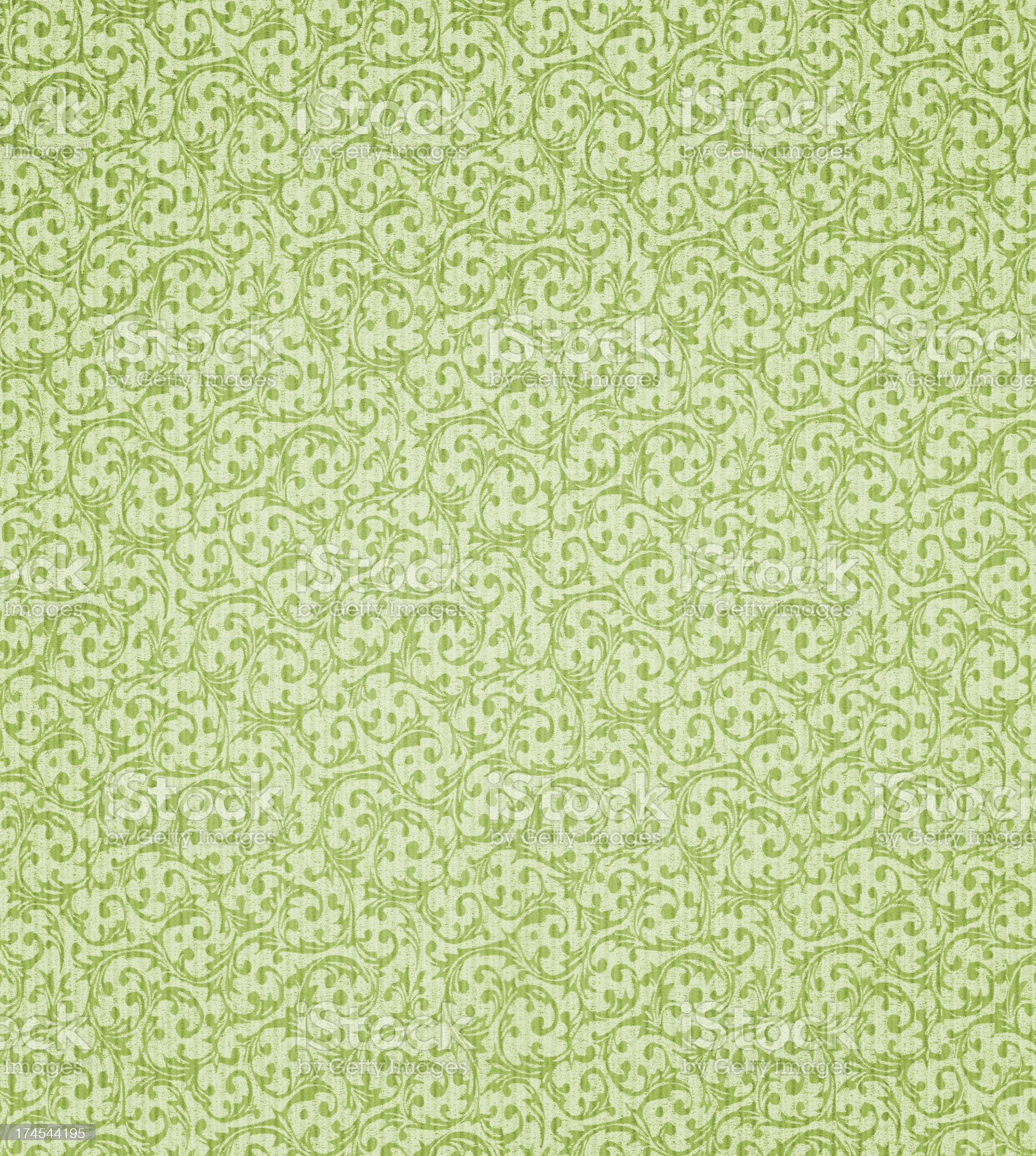 Large seamless pattern of antique wallpaper royalty-free stock photo
