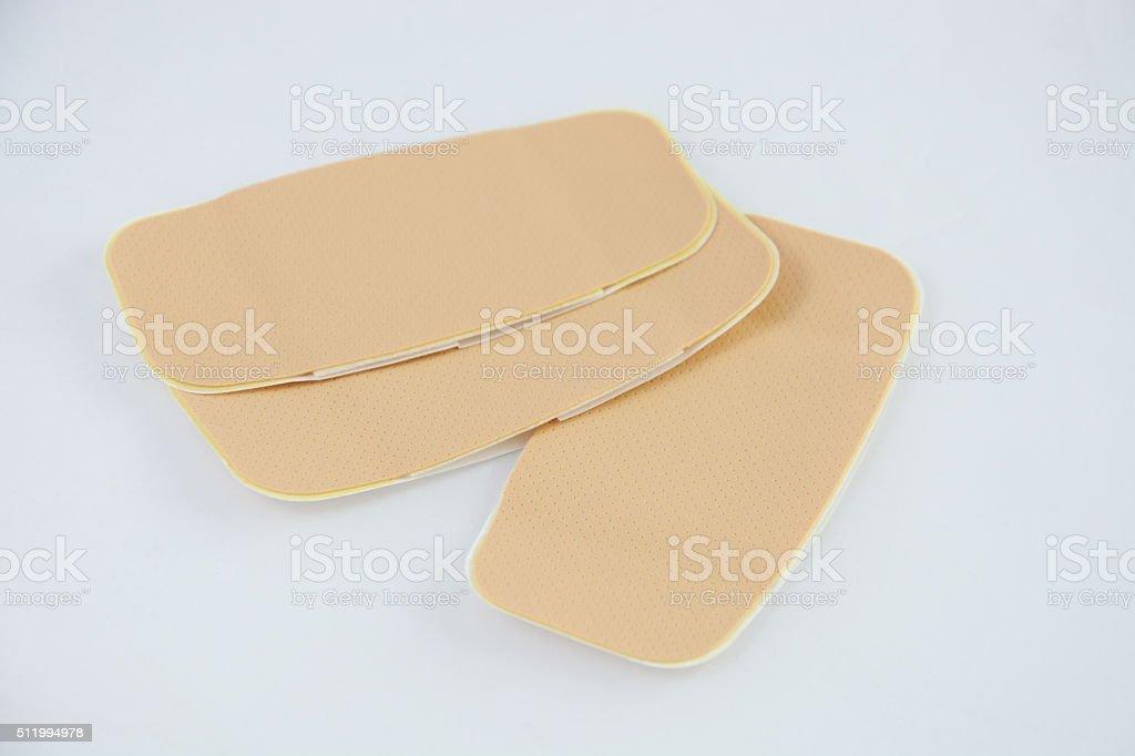 Large self adhesive bandages stock photo