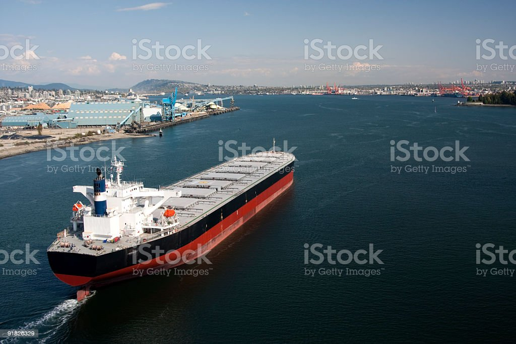 Large Ship Aerial View stock photo
