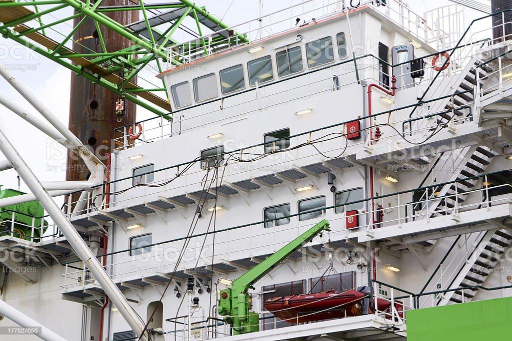 Large Ship bridge stock photo