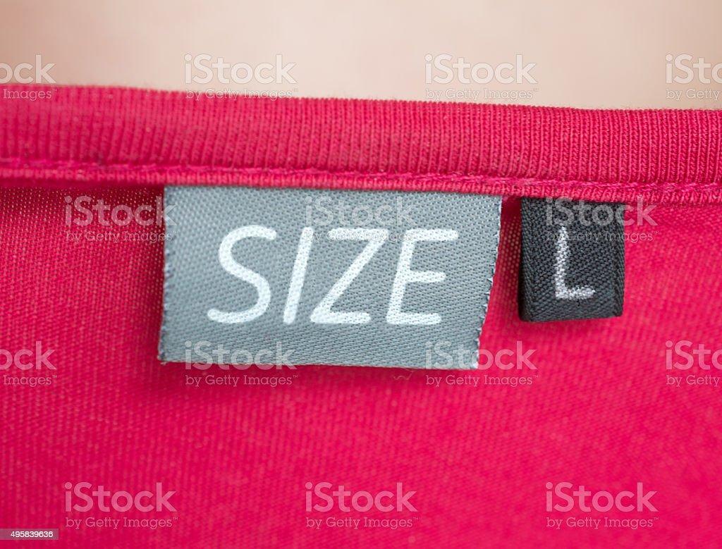 Large size clothing label stock photo