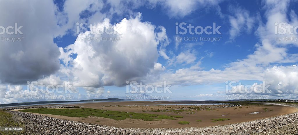Large sky over tidal estuary royalty-free stock photo