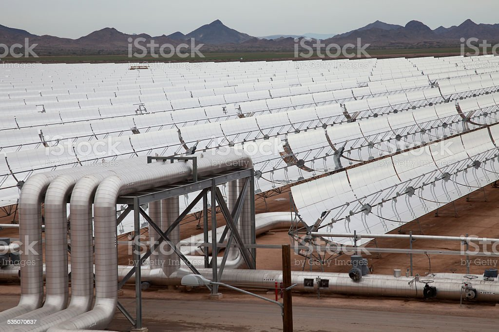 Large Solar Concentrator in the Arizona Desert stock photo