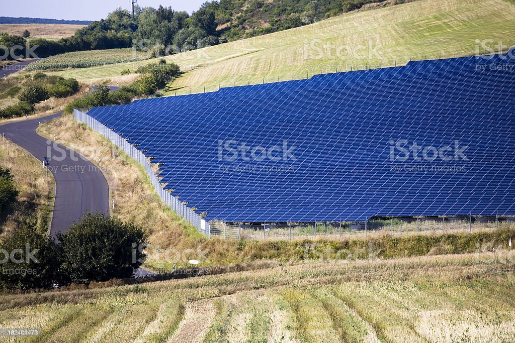 Large Solar Farm in the Countryside royalty-free stock photo