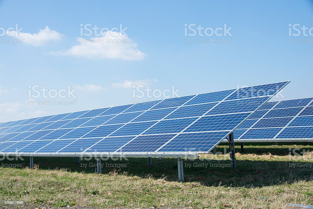 Large solar panel in a Solar Park royalty-free stock photo