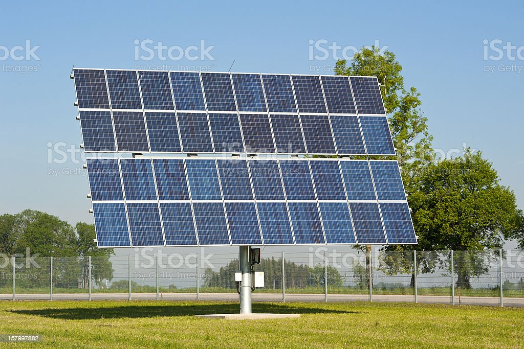 large solar panel stock photo