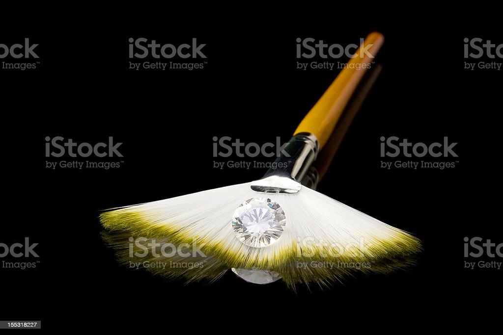 Große einsamen Diamond Lizenzfreies stock-foto