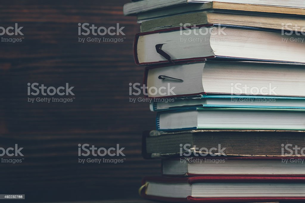 Large stack of books royalty-free stock photo