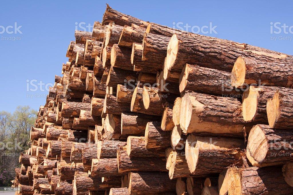 Large Stack of Lumber stock photo