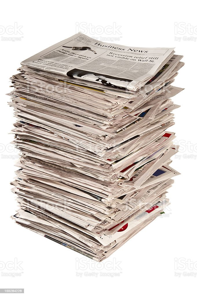 Large Stack of Newspapers royalty-free stock photo