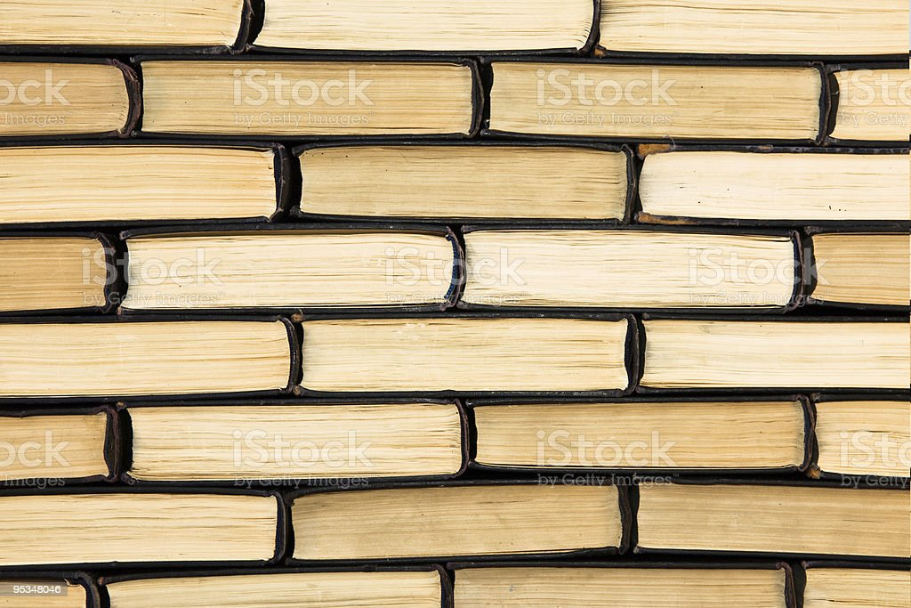 A large stack up of hardcover books stock photo