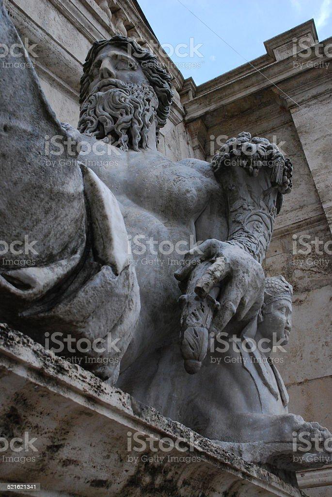 Large Statue Holding Cornocopia royalty-free stock photo