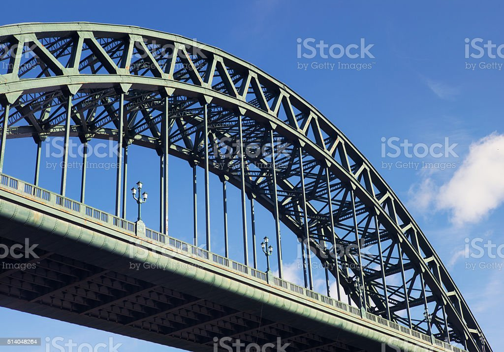 Large steel arch bridge stock photo