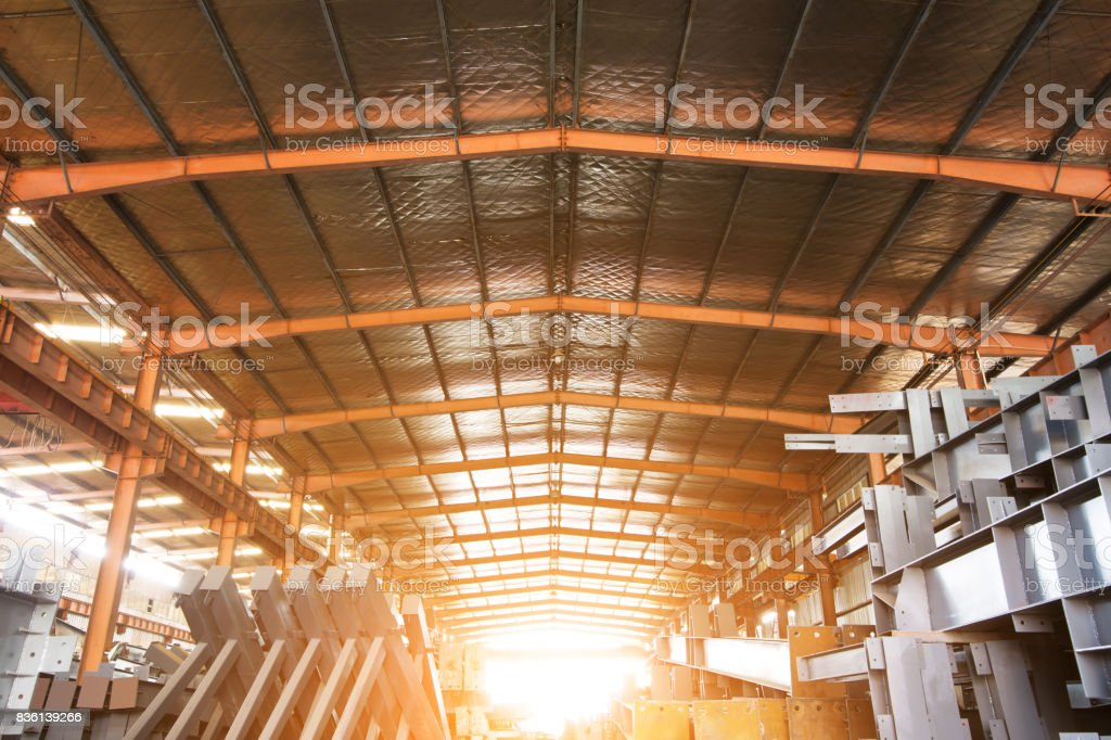 Large steel processing plant stock photo