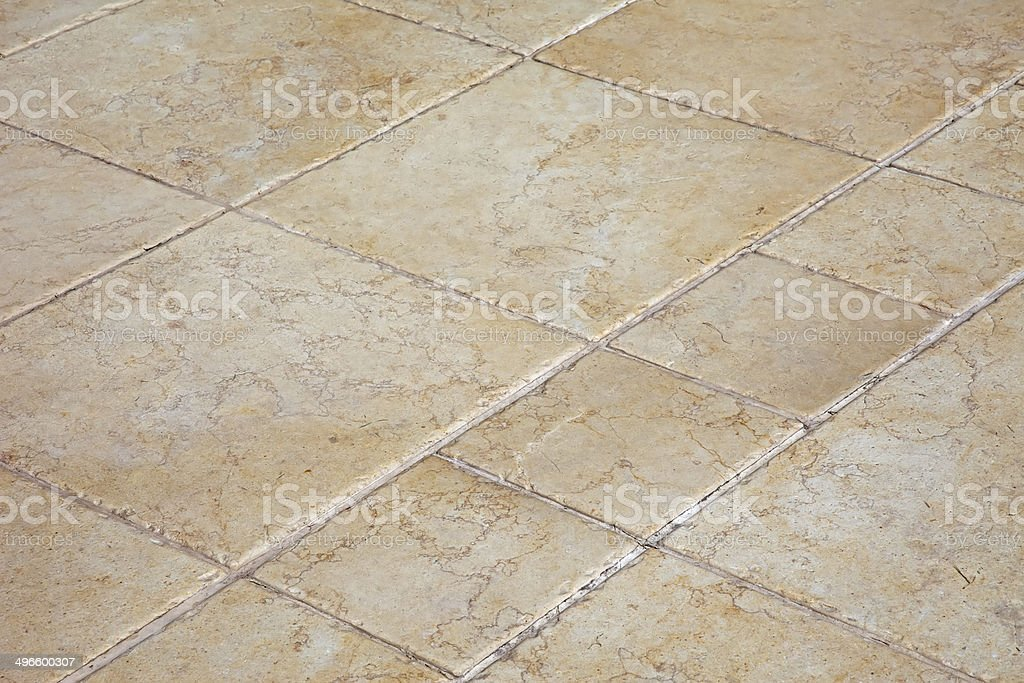 Large stone floor tiles stock photo