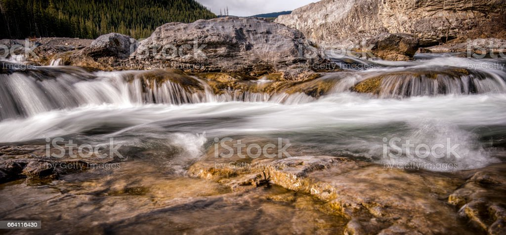 Large Stone in Water stock photo