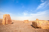 Large Stones in Desert