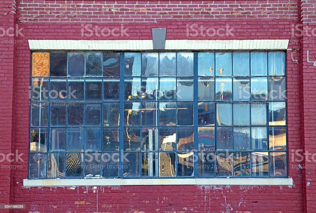 Large street window stock photo