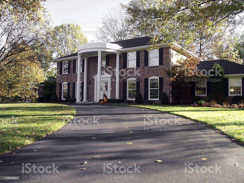 Large Suburban Brick Home royalty-free stock photo