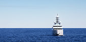 large Super Yacht at anchor