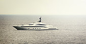 Large Super Yacht at sea