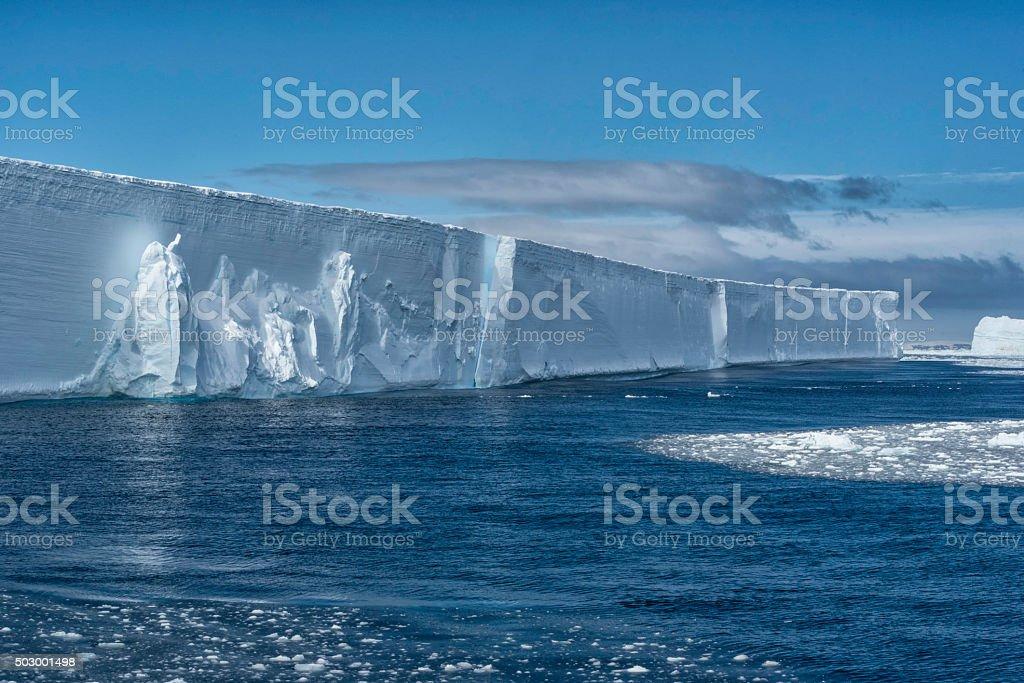 Large Tabular Iceberg, Antarctica Sound stock photo
