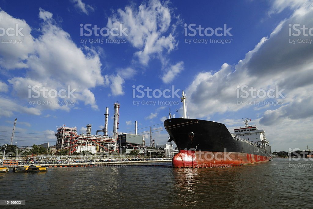 large tanker ship oil transpor stock photo